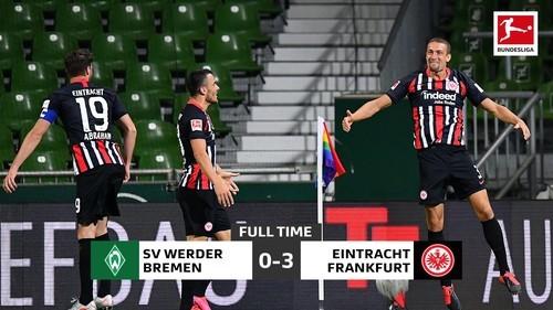 Вердер – Айнтрахт – 0:3. Видео голов и обзор матча
