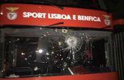 ВИДЕО. Забросали камнями. Как фанаты атаковали автобус Бенфики из Лиссабона