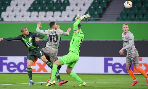 Шахтер в гостях одолел Вольфсбург в первом матче 1/8 финала Лиги Европы