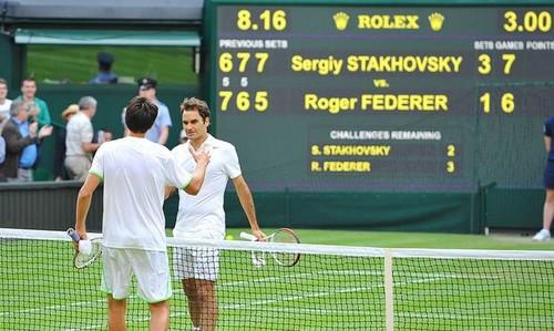 ВИДЕО. Семь лет назад Стаховский сенсационно обыграл Федерера на Уимблдоне