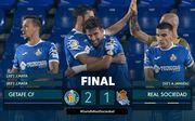 Хетафе – Реал Сосьєдад – 2:1. Відео голів та огляд матчу
