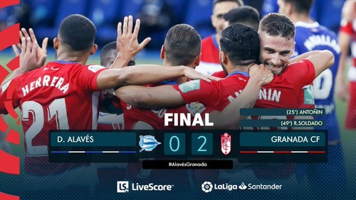 Алавес – Гранада – 0:2. Відео голів та огляд матчу