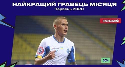 Буяльский – лучший игрок Динамо в июне