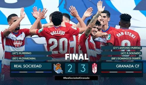 Феєрія у кінцівці. Реал Сосьєдад програв Гранаді і може не потрапити до ЛЄ