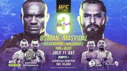 Де дивитися онлайн UFC 251. Камару Усман – Хорхе Масвідаль