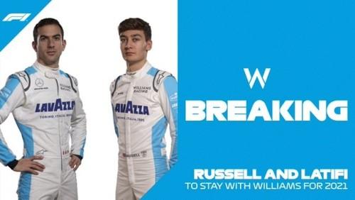 Команда Формулы-1 Уильямс подписала пилотов на сезон-2021