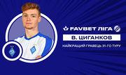 Віктор Циганков - найкращий гравець 31-го туру УПЛ