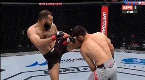 Роман Долидзе – Хадис Ибрагимов. Видео боя UFC в Абу-Даби
