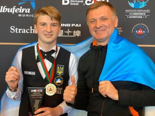 ВИДЕО. 14-летний украинец Юлиан Бойко стал чемпионом Европы по снукеру