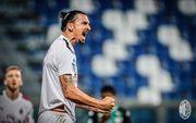 Дубль Ибрагимовича принес Милану победу над Сассуоло