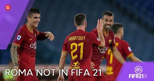 Минус Рома. Еще один клуб Серии А не будет представлен в FIFA 21