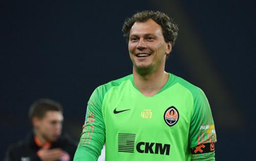 Андрей Пятов впервые с 16 февраля 2017 года не пропустил в еврокубках