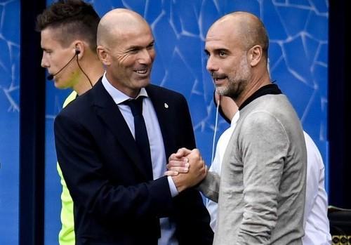 ФОТО. Зидан и Гвардиола пообщались на стадионе после матча