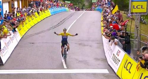 Крітеріум Дофіне. Рогліч виграв другий етап і очолив загальний залік