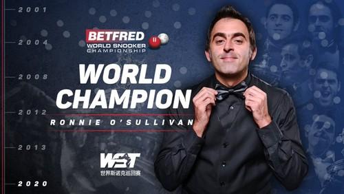 Полный разгром. Ронни О'Салливан стал чемпионом мира по снукеру в 6-й раз