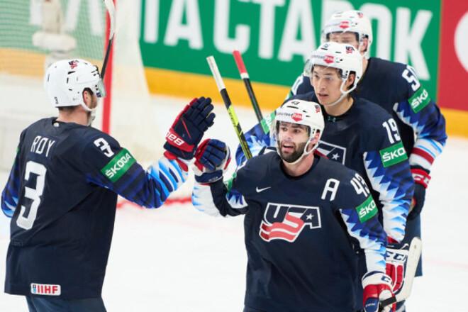 ЧМ по хоккею. США вышли в полуфинал, Германия выбила Швейцарию