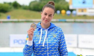 Лузан завоевала 4 медали на ЧЕ по гребле, установив национальный рекорд