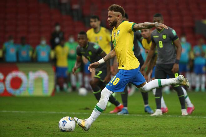 Гол и ассист Неймара помогли Бразилии победить Эквадор в квалификации ЧМ