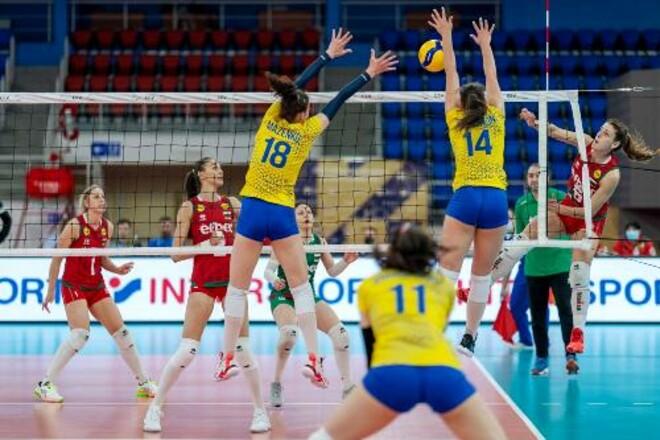 Украинские волейболистки проиграли сборной Болгарии в Золотой Евролиге