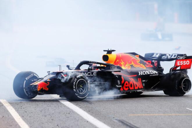 ВИДЕО. Лопнула шина. Как Ферстаппен потерял победу в Баку