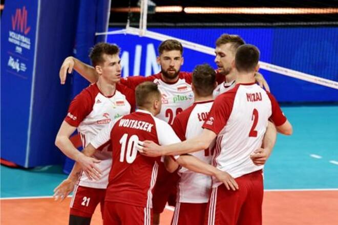 Сборные Польши и Бразилии лидируют в мужской Лиге Наций