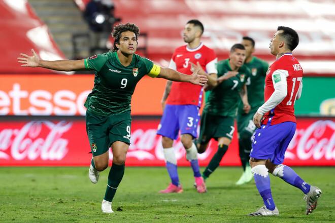 Марсело Морено уравнял. Чили и Боливия разошлись миром в квалификации ЧМ