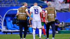 ФОТО. Бензема получил травму в матче Франции против Болгарии