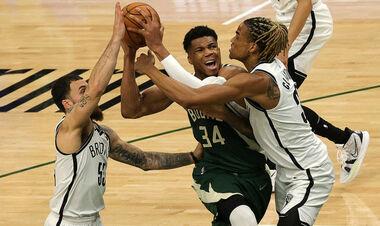 НБА. 68 очков от Янниса и Миддлтона помогли Милуоки обыграть Бруклин