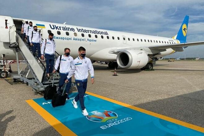 ФОТО. Сборная Украины прибыла в Амстердам на матч Евро-2020 с Нидерландами