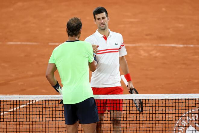 ФОТО. Боги тенниса! Как Джокович обыграл Надаля в полуфинале в Париже