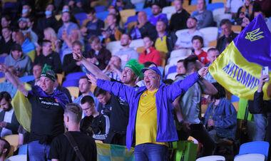 ФОТО. 10 тысяч фанов собрались на НСК Олимпийский поддержать сборную