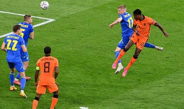 Зинченко проиграл воздух, Бущан не выручил. Дюмфрис забил 3-й гол Украине