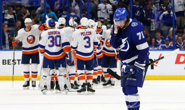 НХЛ. Айлендерс остановили Тампу в первом полуфинале Кубка Стэнли