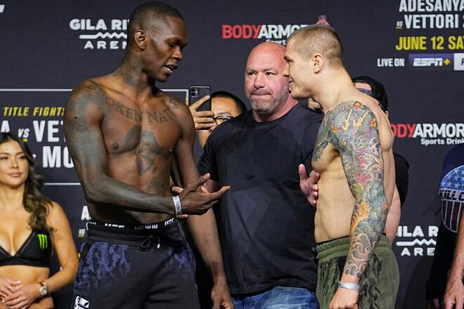 UFC: Исраэль Адесанья – Марвин Веттори. Смотреть онлайн. LIVE трансляция