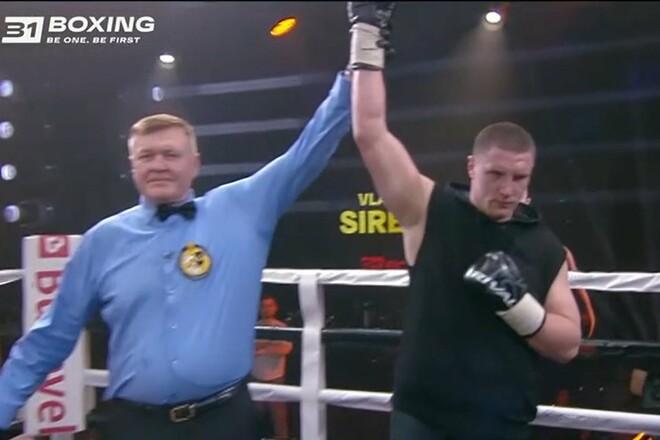 17 побед в профи. Сиренко нокаутировал двоюродного брата Бензема