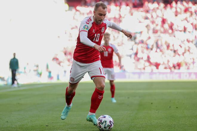 Крістіана Еріксена названо кращим гравцем матчу Данія – Фінляндія