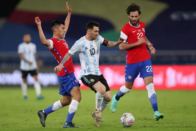 Аргентина – Чили – 1:1. Видео голов и обзор матча