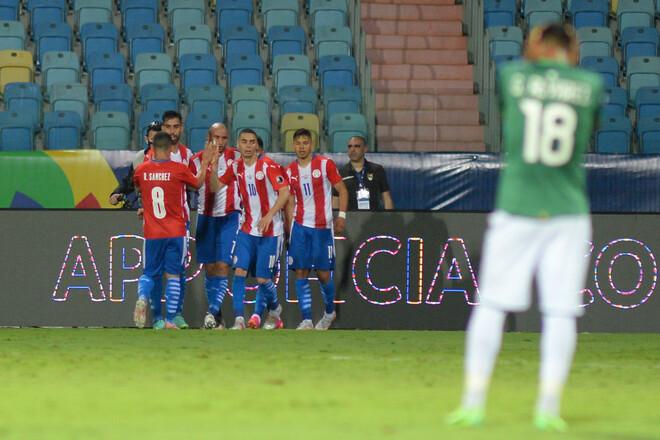 Парагвай в большинстве обыграл Боливию на Кубке Америки