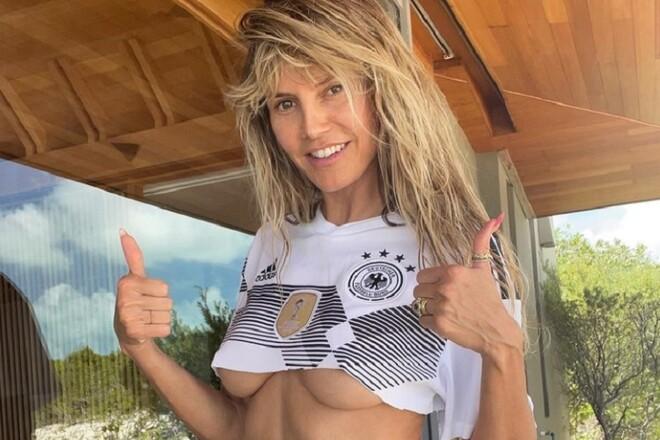 ФОТО. Хайді Клум оголила груди на підтримку збірної Німеччини
