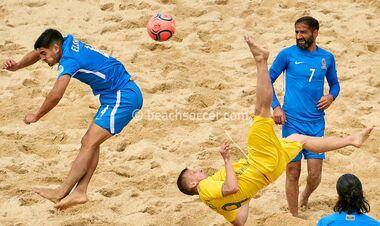 Сборная Украины по пляжному футболу одержала вторую победу в Евролиге