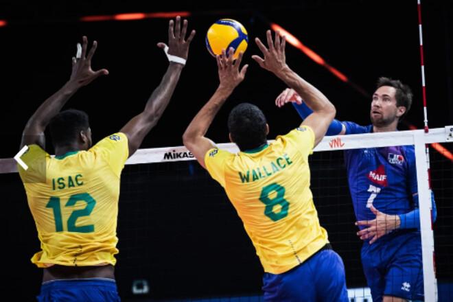 Бразилия лидирует в мужской Лиги Наций после четырех туров
