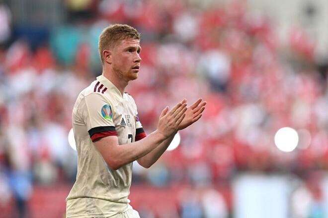 Де Брюйне не праздновал гол в ворота Дании из уважения к Эриксену
