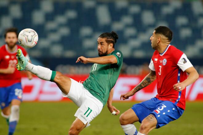 Сборная Чили обыграла Боливию и стала лидером группы Кубка Америки