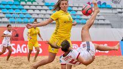 Пляжный футбол. Украинки разгромно проиграли Швейцарии в Евролиге
