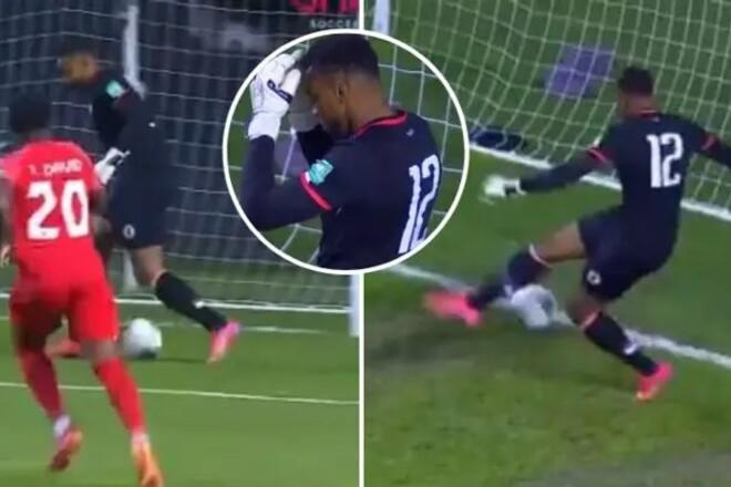 ВИДЕО. Запинал себе мяч. Вратарь сборной Гаити забил удивительный автогол