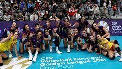 В женской Золотой Евролиге третье место заняли волейболистки Испании