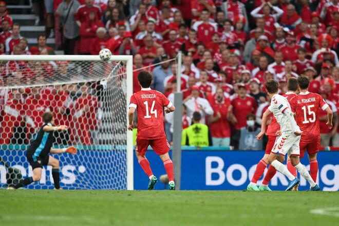 Однієї перемоги вистачило. Данія розгромила Росію і вийшла в плей-офф