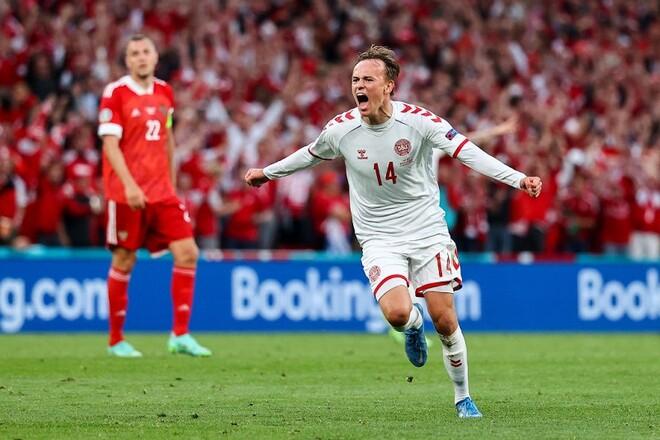 ВИДЕО. Дания открыла счет в матче с Россией