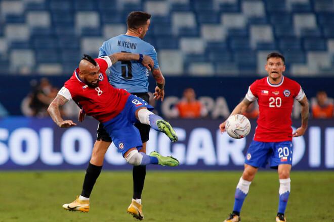 Уругвай вырвал ничью в матче с Чили на Кубке Америки