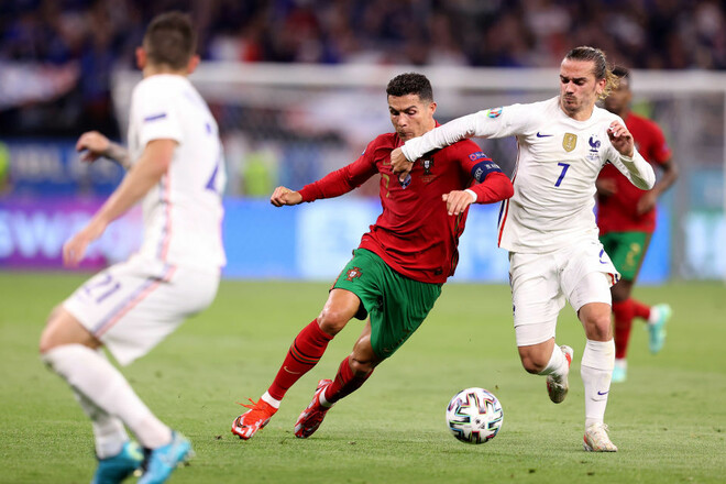 Битва чемпионов с тремя пенальти. Португалия и Франция сыграли вничью